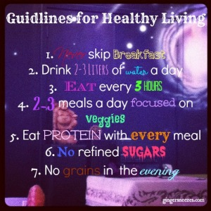 Guidelines for Healthy Living