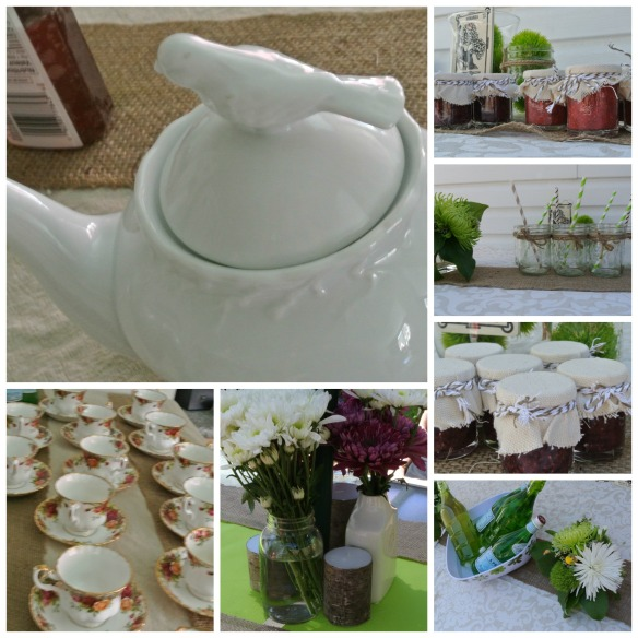 Tea Party Decor Collage