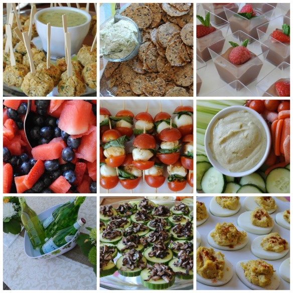 Tea party food Collage